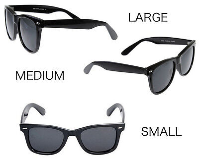 MEN Sunglasses Classic 80 Style Black Frame with Dark Lens - NEW small med large