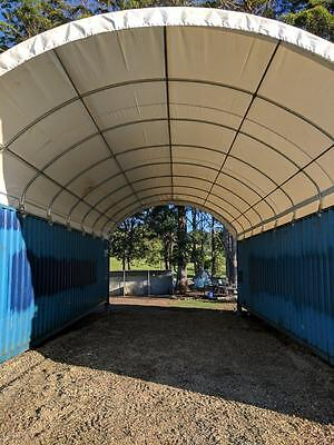 Container Dome Shelter 6m W x 12m L suit 2 x 40 shipping containers