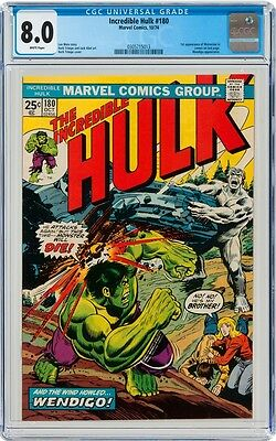 Hulk #180 CGC 8.0 1974 1st Wolverine! Cameo! WHITE pages! Pre #181! G3 313 cm cl