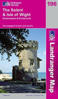 OS landranger map: The Solent & Isle of Wight by Great Britain (Sheet map)