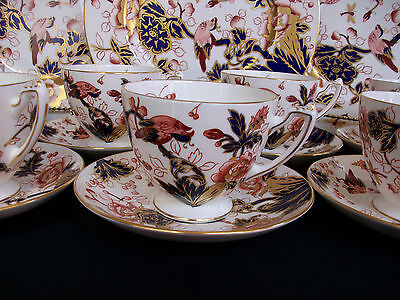 COALPORT HONG KONG (c.1970-1993) CUP & SAUCER- NEW MARK- EXCELLENT!!  GILT!!