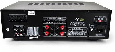 Home Theater BT Receiver Amplifier W/ AM/FM Radio & Two Microphone Inputs
