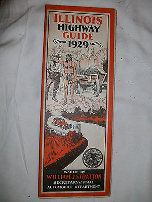 Illinois Highway Guide-Official 1929 Edition