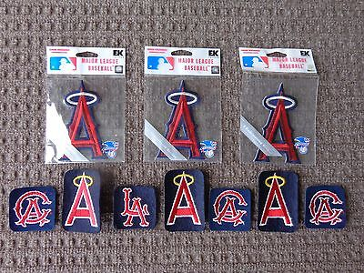 Vintage California Angels Patches 10 Pc. Lot  Old School Logos Free Shipping