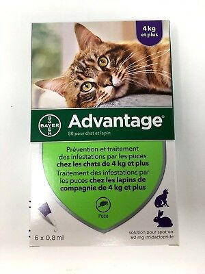 ADVANTAGE PURPLE for Cats Over 9 lbs (6-Pack) - FAST SHIPPING - exp 11/2022