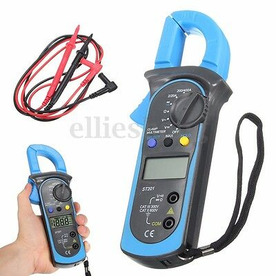 Digital Clamp Multimeter Amp Meter OHM AC/DC Current Voltage Volt Tester Probe