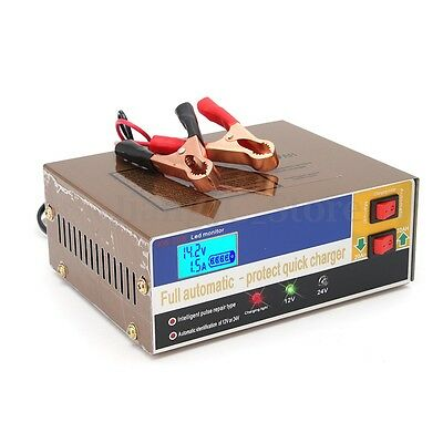 Electric Car Auto Battery Charger 12V/24V 100AH Intelligent Pulse Repair Type