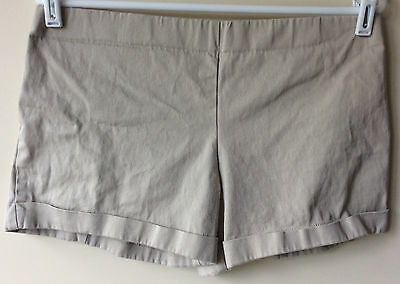 Women's Size Medium B Sport Maternity Beige Cotton/Spandex Short Shorts