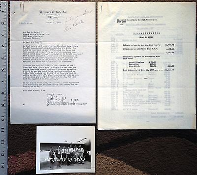 1938-39 Air Race Letter To Benny Howard~Expenses Of Dead & Injured Pilots &Photo
