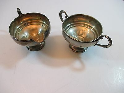 Vintage Sterling Silver Cream & Sugar Bowl ~ Revere Silversmiths #1049