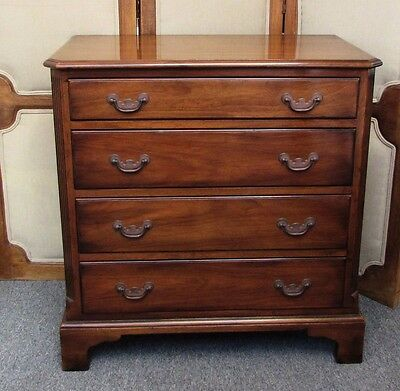 Vintage Signed Kittinger Chippendale Style Mahogany Bachelors Chest of Drawers