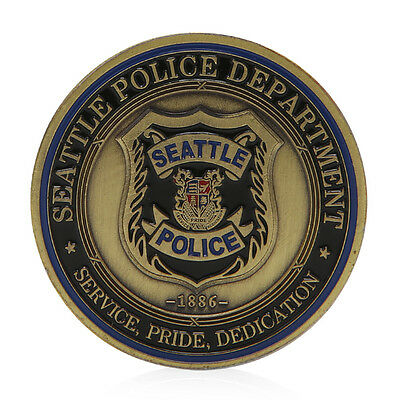 Saint Michael Seattle Police Department Commemorative Challenge Coins Collection