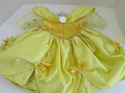 Baby Girl Disney Princess Belle Dress Size  3 Months With Tiara
