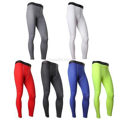 Men Sports Pants Compression Fitness Training Running Base Layer Athletic Tights