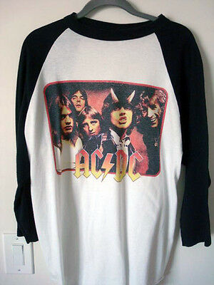 AC/DC Vintage '79-80 Highway to Hell Baseball Jersey (Large Pre-Owned)