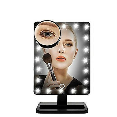 Lmeison Touch Screen 20 LED Lighted Makeup Mirror with Removable Magnifying