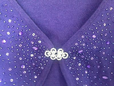 Monsoon purple sequinned cardigan Age 8-10