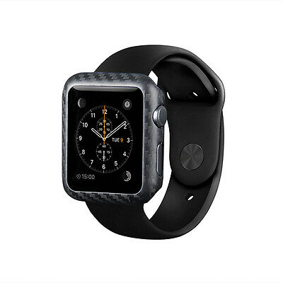 Matte Finish For Apple Watch Series 2 42mm Carbon Fiber Watch Cover Case