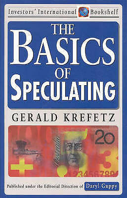 The Basics of Speculating by Gerald Krefetz (Paperback, 1997)
