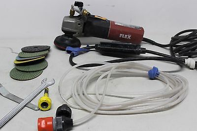 Flex LW1503 Wet Polisher - Water Feed - With Hose and Pads