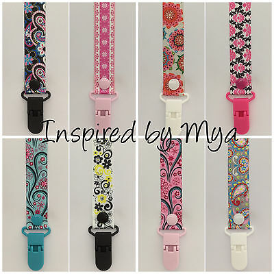 Dummy clip pacifier chain dummie binky baby floral gift teether toy saver flower