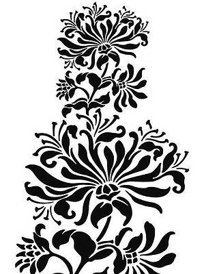 Large Lace Flower/Honeysuckle 190 micron Mylar Stencil - A5 - A4 - A3 ***NEW***