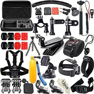 Hot 53in1 Action Cam Tripod Mount Accessories Bundle Set for GoPro Hero 5 4 3+ 3