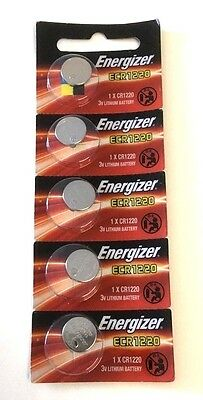 Energizer Battery Coin CR1220 5 Pack Batteries Lithium 3V CELL 1220 CR watch exp