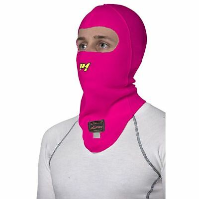P1 Racewear Open Face Nomex Balaclava Pink Motorsport, Race, Rally FIA Approved