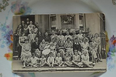 A Large Group Of People, Children, Fashion - A Real Photo Postcard