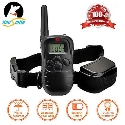 Electric Remote LCD 100LV 300M Shock Vibrate Pet Dog Training Collar Waterproof