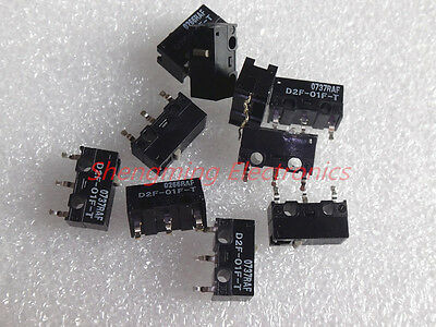 10pcs D2F-01F-T 0.74N OMRON Mouse Micro Switch Mice Button