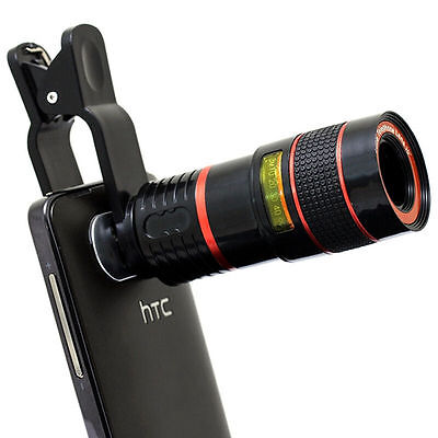 8x Optical Zoom HD Telescope Camera Lens For Universal Mobile Phone Clip-on
