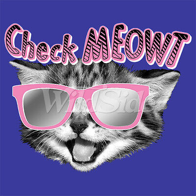 Check Meowt - Cat With glasses T Shirt  You Choose Style, Size, Color 20102