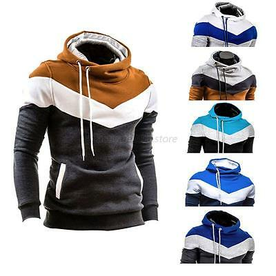 AU Men's Winter Slim Hoodie Warm Hoodie Hoody Sweatshirt Pullover Jacket Shirts