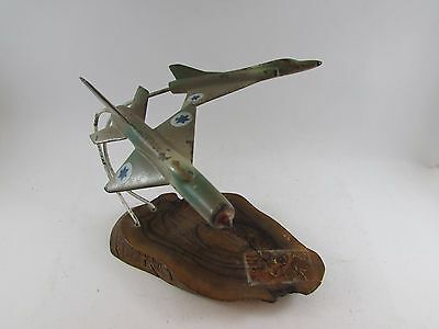 Vintage RARE TRENCH ART Russian Mig 21 Fishbed-c Jet & mirage IDF Airplane 1967