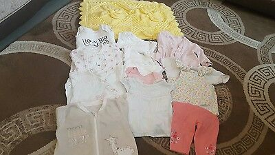 Used good condition Girl 0-3 months bundle clothes