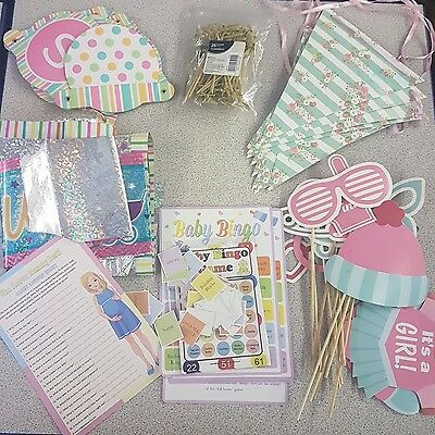 baby shower bundle, props, quizes, banners, bunting