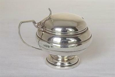 A Lovely Antique Solid Sterling Silver Mustard Pot By Walker & Hall Dates 1912.