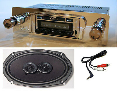1960-1963 Ford Ranchero Radio + DVC Dash Speaker + iPod Dock + USB Aux 630 II