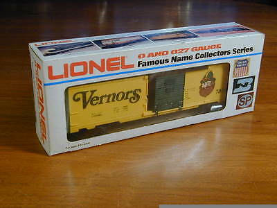 Lionel O27 Gauge #7809 Vernor's Ginger Ale Box Car Un-Run In Original Box