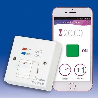 Timeguard Wi-Fi Controlled Fused Spur Timeswitch Wall Socket | FSTWIFI