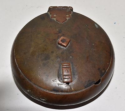 Antique / Vintage Indian Hand Made Brass & Copper Chapati Bread Box Holder
