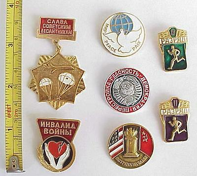 Russian Soviet Military Pin Wwii Memorial Medal Order Award Armed Gold Badge