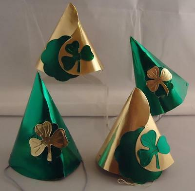 Vtg RARE Lot of 4 St. Patrick's Day Party Hats Irish Leprechaun Decorations
