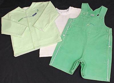 Marese baby boy dungaree shorts jacket t shirt designer outfit set  GREEN 18m