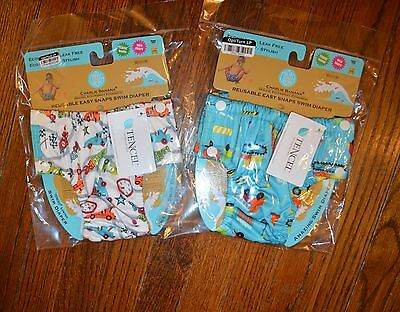 NWT Charlie Banana Extraordinary Swim Diaper - M - two prints to choose from