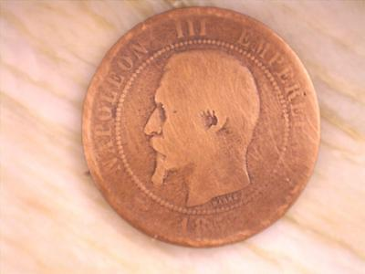 1853 (A), France - 10 Centimes, Bronze Coin (NAP20171)  *SPECIAL*