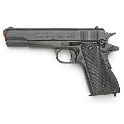 Denix Replica M1911 Government 45 Automatic Pistol - Black Grips