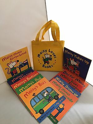 Amish Loves Books Book Bag Set of 10 Maisy Mouse Paperback Books In The PVC Bag